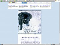 puppy love, blue